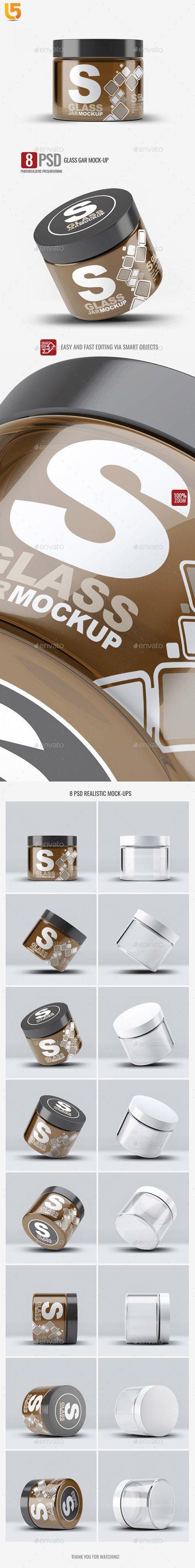 Cosmetics Glass Jar Mock-Up 23225220