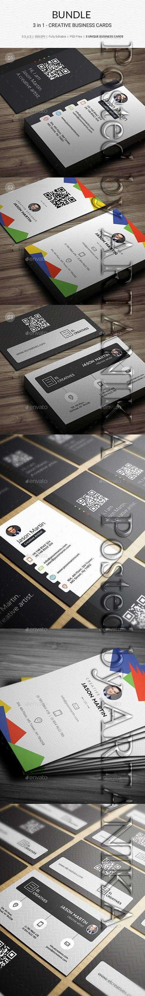 GraphicRiver - Bundle - 3 in 1 - Prime Business Cards - 179 21908391