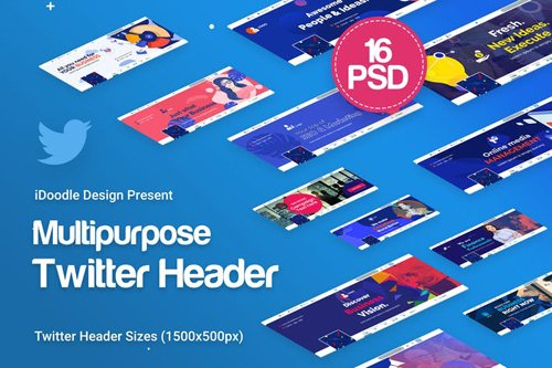 Twitter Headers Multipurpose, Business Ad - UDPEA6