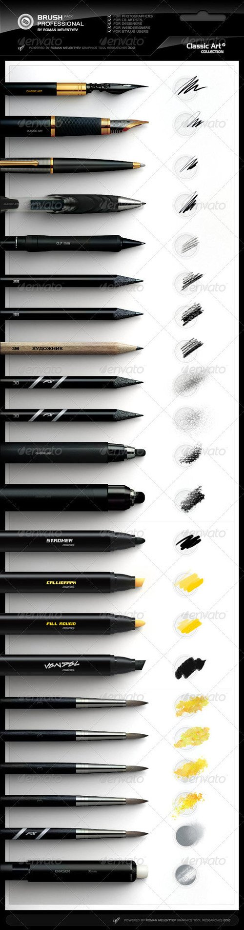 Photoshop Professional Brush Pack vol.4 - Classic 2476826