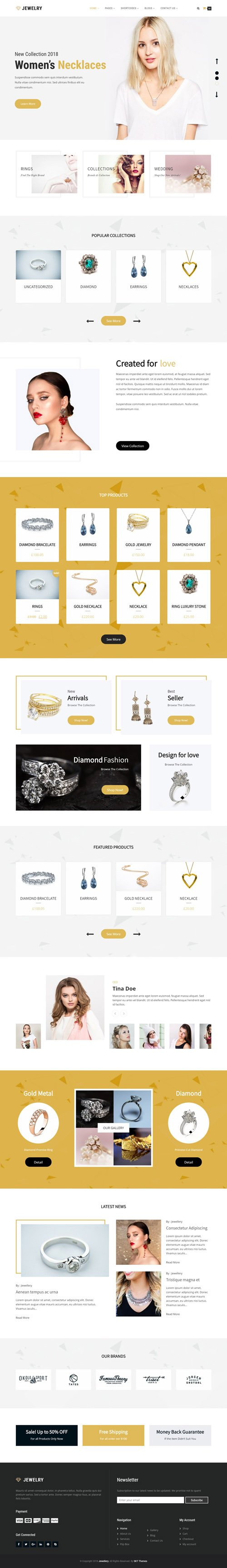 SKT Themes - Jewellery v1.1 - WordPress Theme