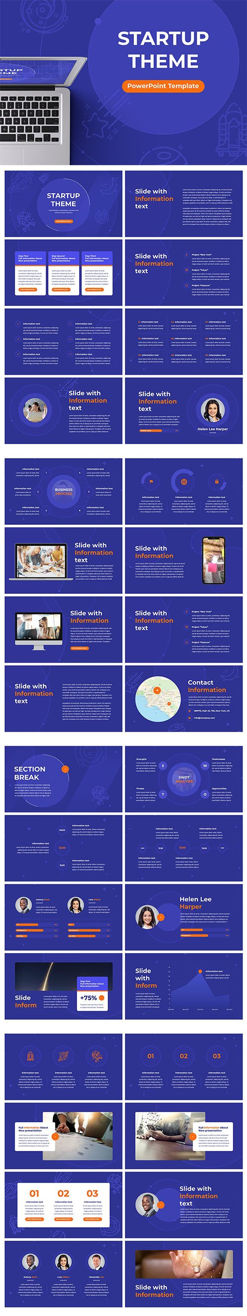 Startup Theme For Powerpoint, Keynote and Google Slides Template