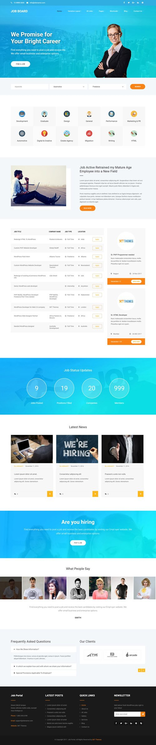 SKT Themes - Job Portal v1.0 - Responsive WordPress Theme