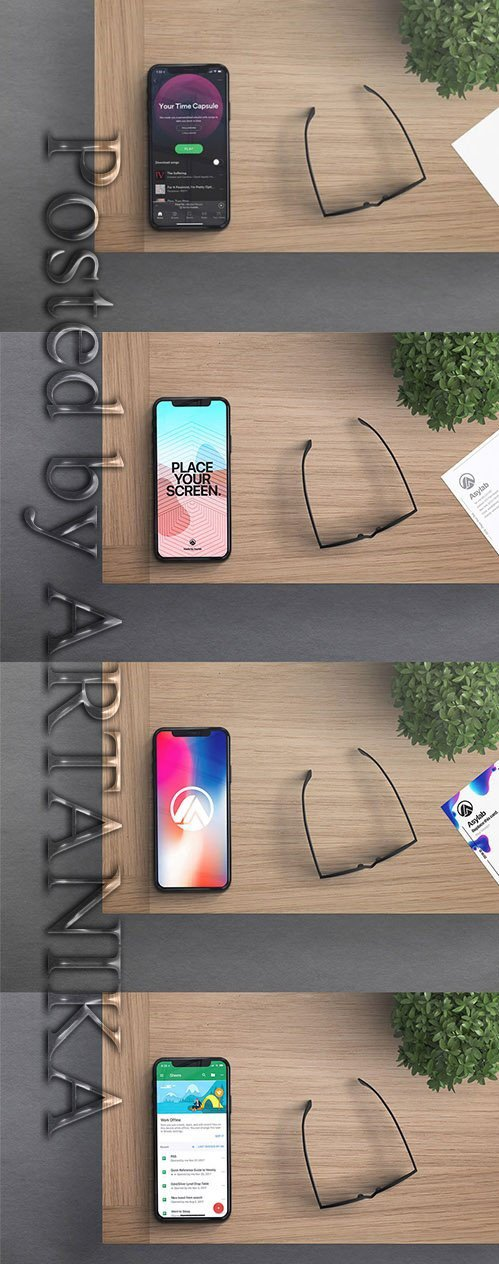IPhone X Desk Mockup