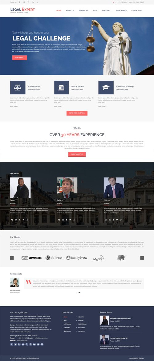 SKT Themes - Legal Expert v1.0 - Responsive WordPress Theme