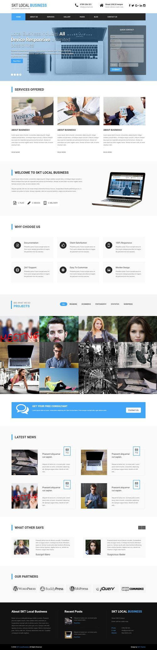 SKT Themes - Local Business Pro v1.0 - Responsive WordPress Theme