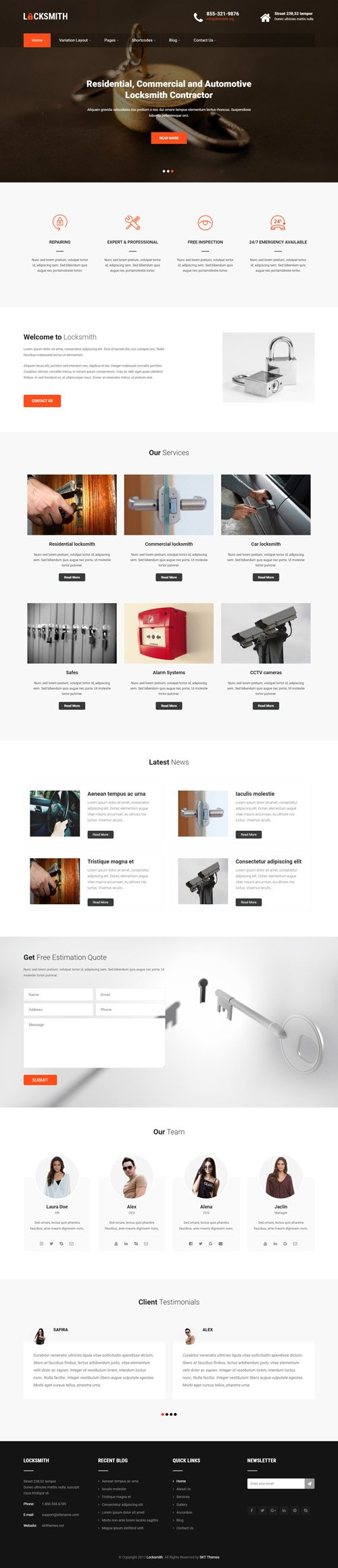 SKT Themes - Locksmith v1.0 - Responsive WordPress Theme