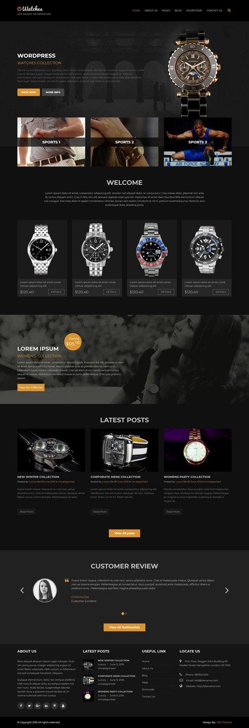 SKT Themes - Luxury Watch v1.0 - Responsive WordPress Theme