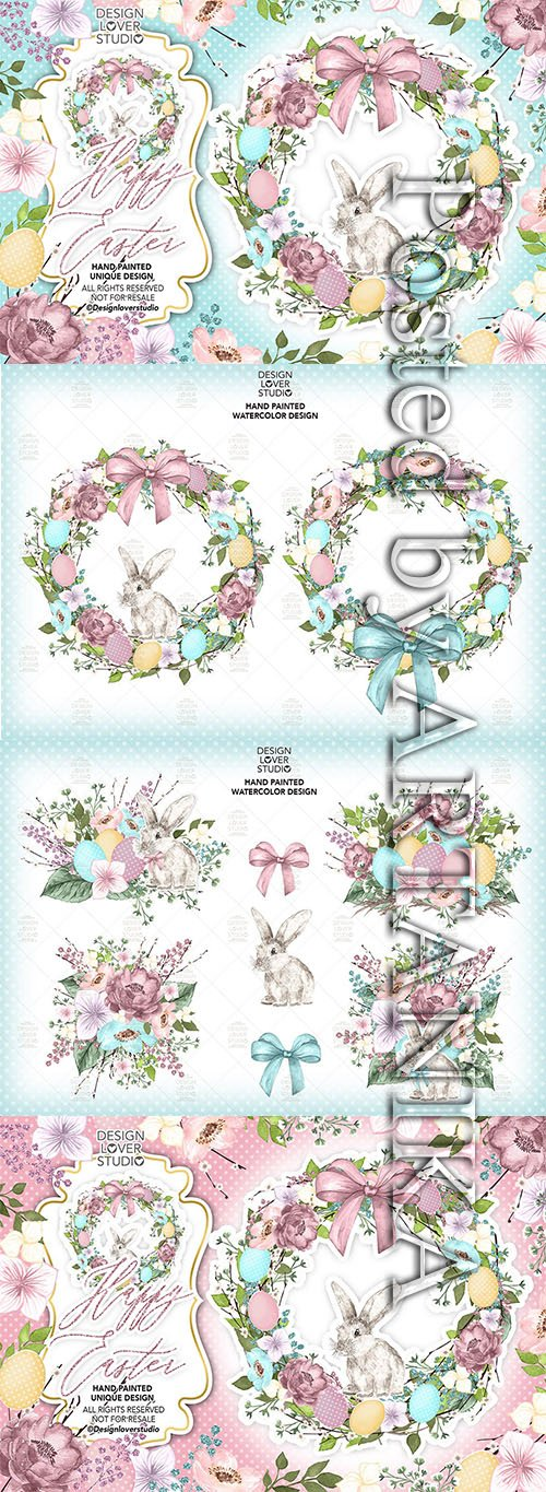Happy easter cute design