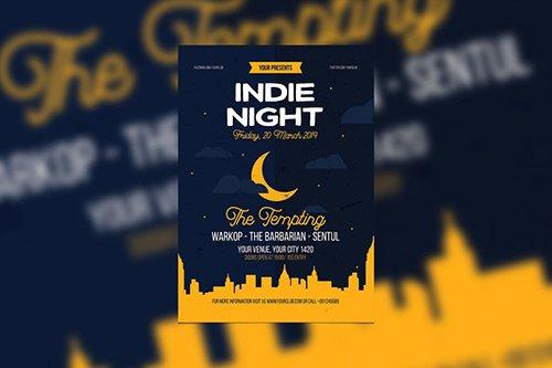 Indie Night PSD