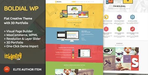ThemeForest - Boldial WP v2.9 - Flat Creative Theme with 3D Portfolio (Update: 8 February 19) - 7771632