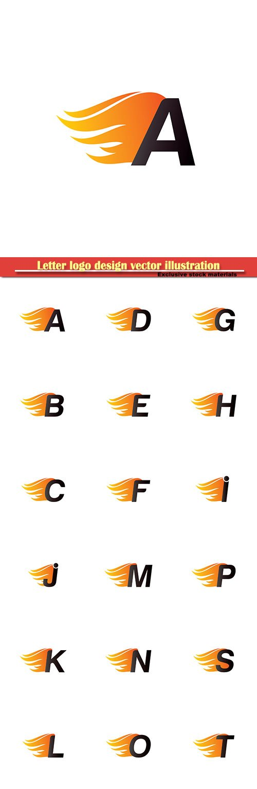 Letter logo design vector illustration template # 11