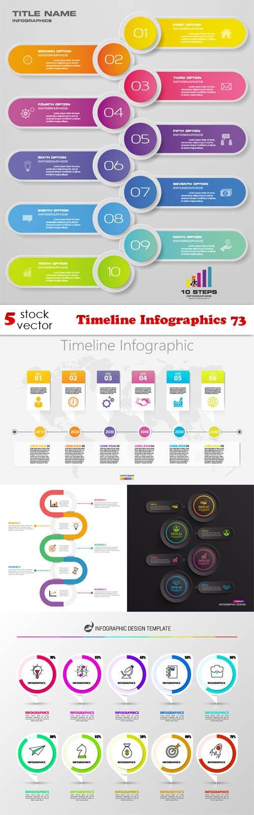 Vectors - Timeline Infographics 73