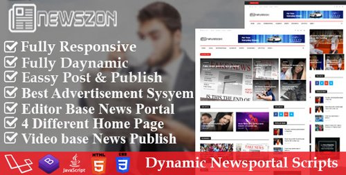 CodeCanyon - News Paper v1.0 - Dynamic News Magazine and Blog Portal Script - 20914360