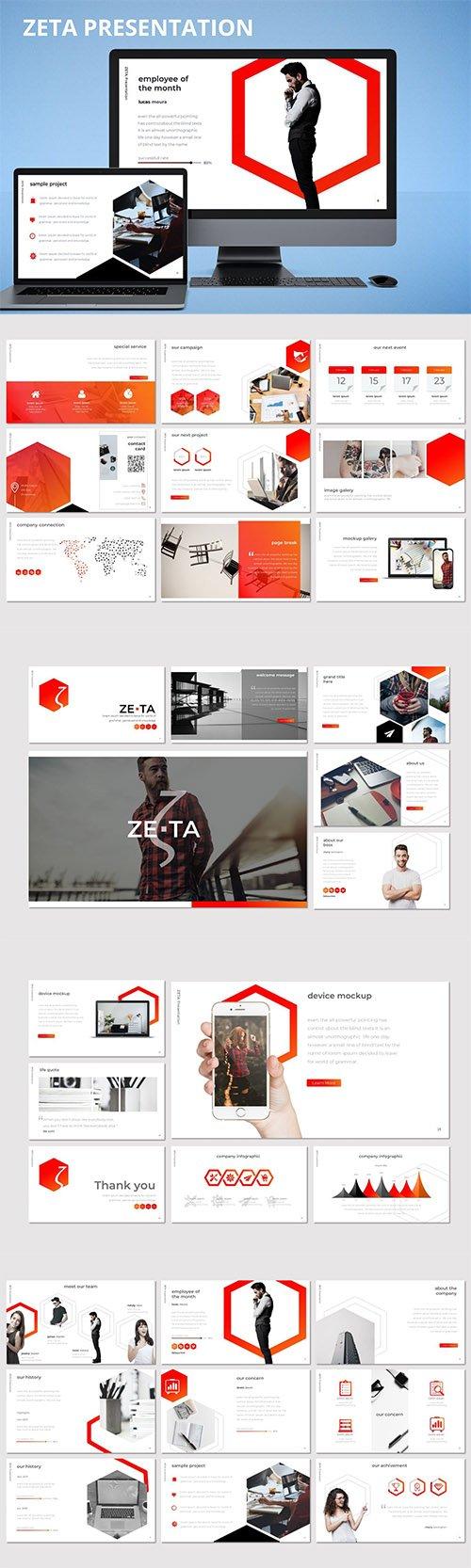 Zeta - Powerpoint, Keynote and Google Slides Template