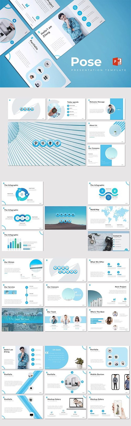Pose - Powerpoint, Keynote and Google Slides Template