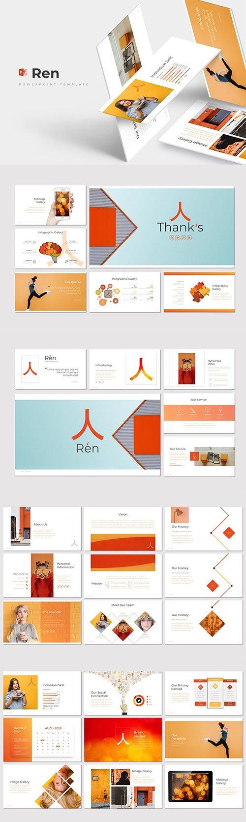 Ren - Powerpoint, Keynote and Google Slides Template