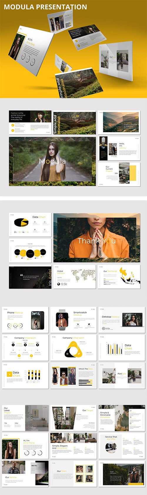 Modula - Powerpoint, Keynote and Google Slides Template
