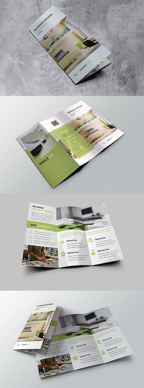 Interior Trifold Brochure PSD