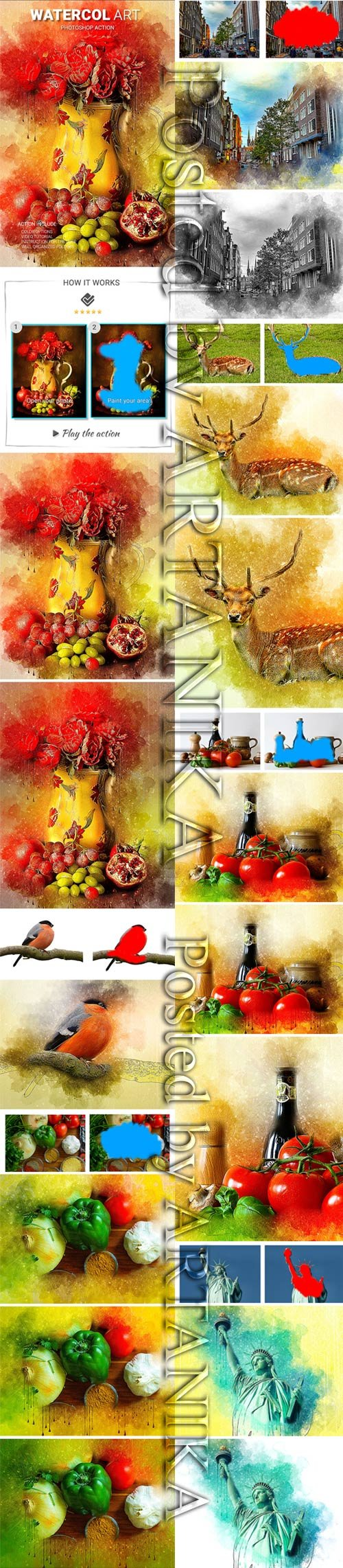 GraphicRiver - Watercol art Photoshop Action 21881701