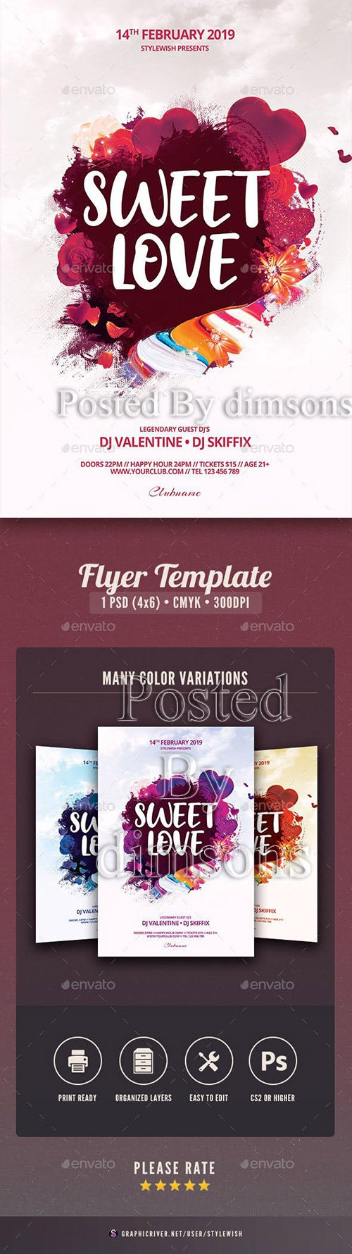 Sweet Love Flyer 23127244