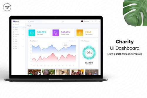 Charity Admin Dashboard UI Kit
