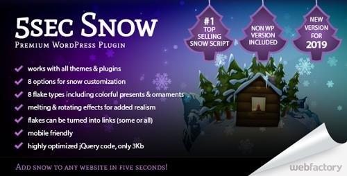 CodeCanyon - 5sec Snow v1.60 - Premium WordPress Plugin - 851002