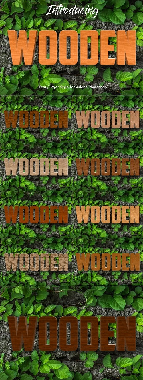 10 Wood Style for Photoshop 3454376