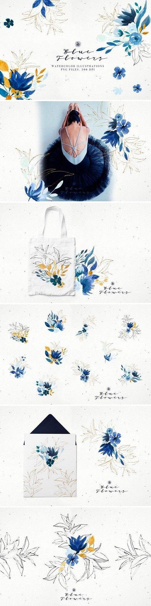 Blue Flowers - 3468058