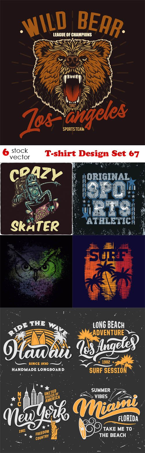 Vectors - T-shirt Design Set 67
