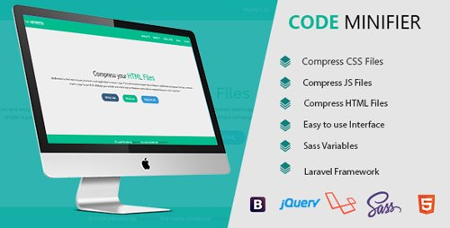 CodeCanyon - Code Minifier v1.0 - Compress CSS JS & HTML Files - 20054247
