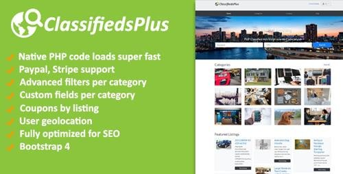 CodeCanyon - ClassifiedsPlus v1.03 - Classified Ads CMS - 22790421