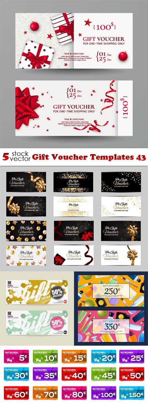 Vectors - Gift Voucher Templates 43