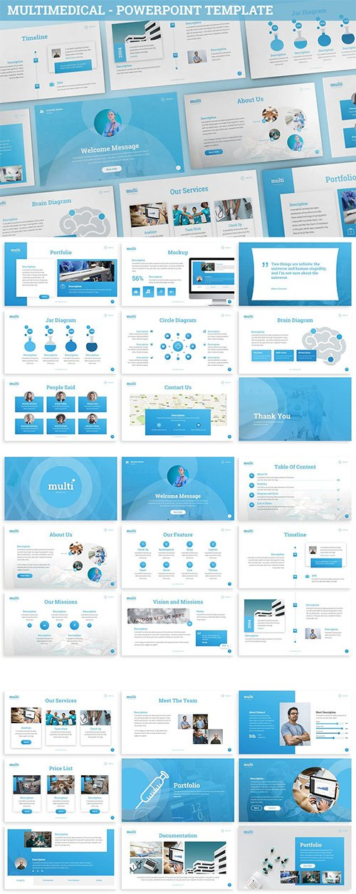 MultiMedical - Powerpoint Presentation Template