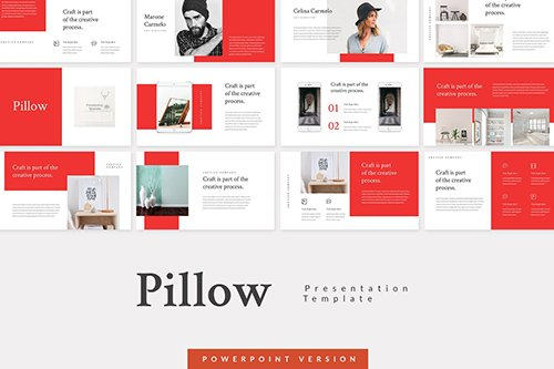 Pillow - Creative Powerpoint Keynote and Google Slides Templates