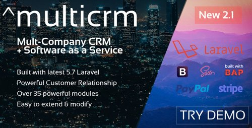 CodeCanyon - ^multicrm v1.1.5 - Powerful Laravel CRM +Front End Software As A Service - 22196657