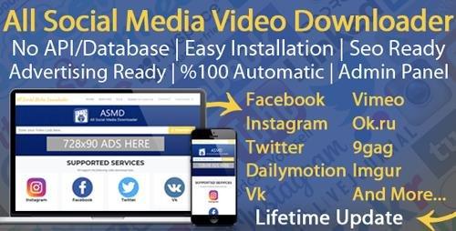 CodeCanyon - All Social Media Video Downloader v4 - 21848875