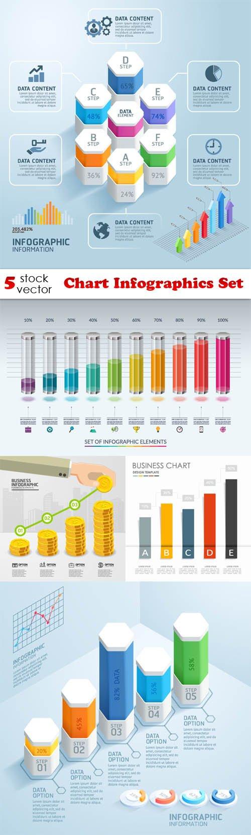 Vectors - Chart Infographics Set