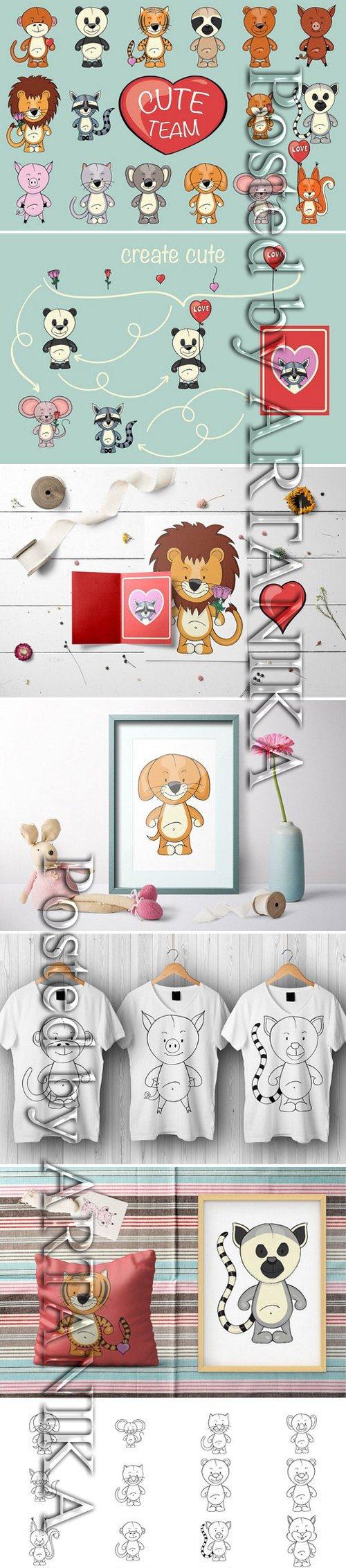CM - Cute Team | Animals clipart creator 2166799