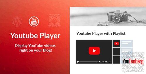CodeCanyon - Youtenberg v1.0 - Gutenberg YouTube Player with Playlist - 23190424