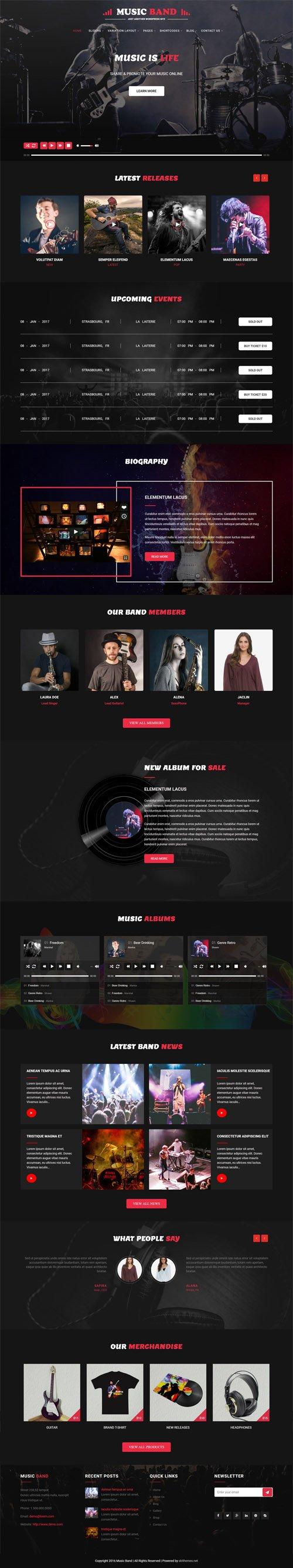 SKT Themes - Music Producer v1.0 - Responsive WordPress Theme