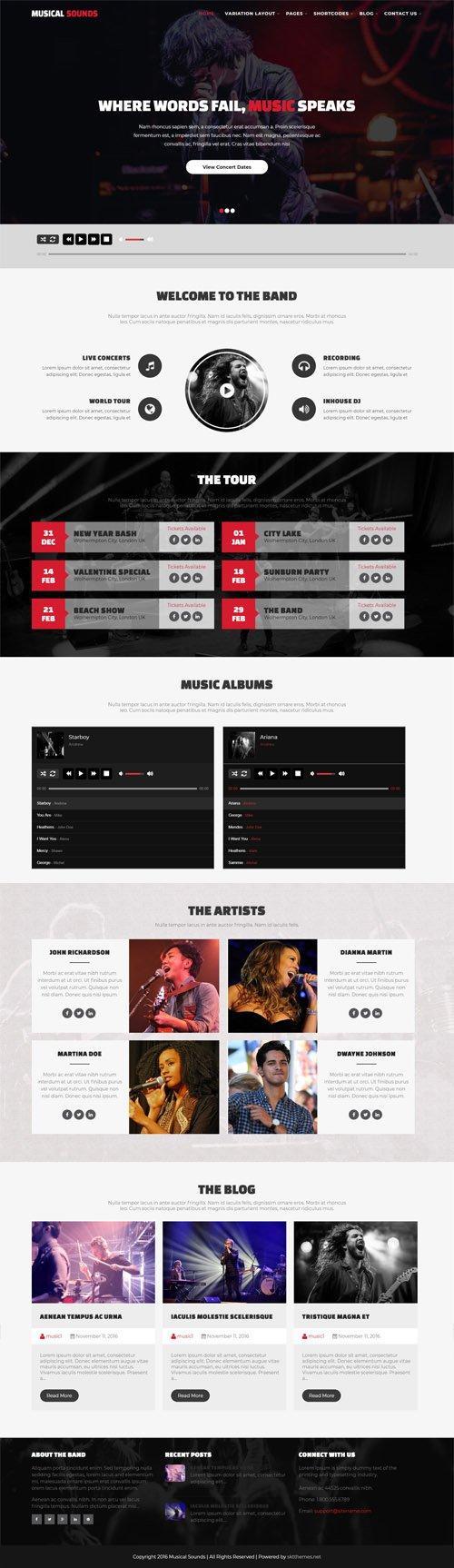 SKT Themes - Musical Sounds v1.0 - Responsive WordPress Theme