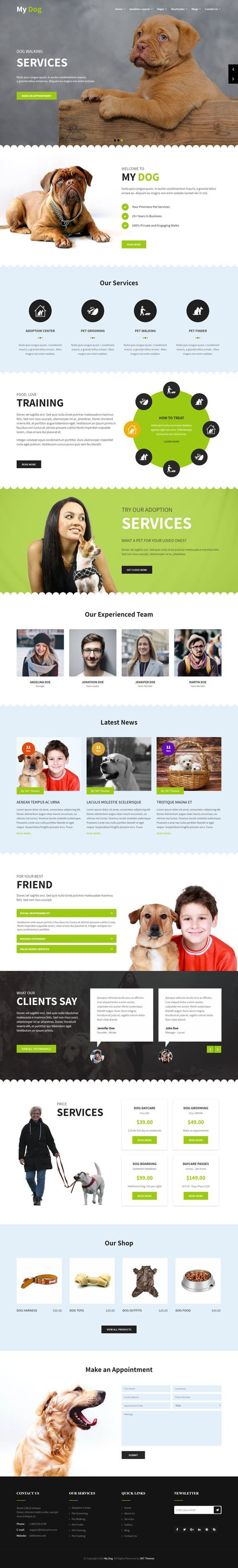 SKT Themes - My Dog v1.1 - WordPress Theme