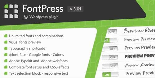 CodeCanyon - FontPress v3.01 - Wordpress Font Manager - 1746759