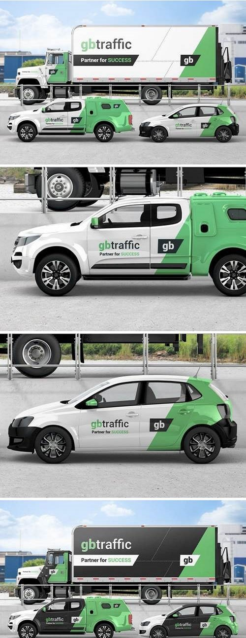 Vehicle Branding Mockup PSD