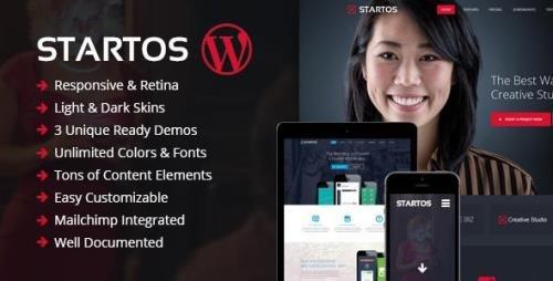 ThemeForest - Startos v1.4.5 - Modern App Landing Page WordPress Theme