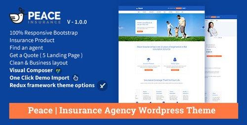ThemeForest - Peace v2.5.5 - Insurance Agency WordPress Theme - 12834489