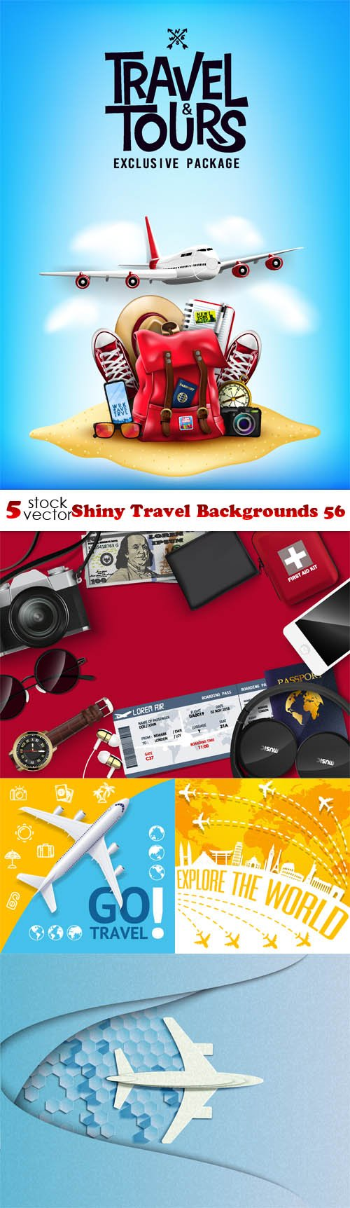 Vectors - Shiny Travel Backgrounds 56