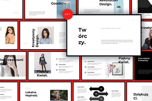 Tworczy Black Powerpoint Keynote and Google Slides Templates