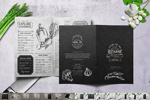 Vintage Bifold Menu Bundle vol.2